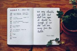 Bullet Journal vecka 4 - reaktionista.se