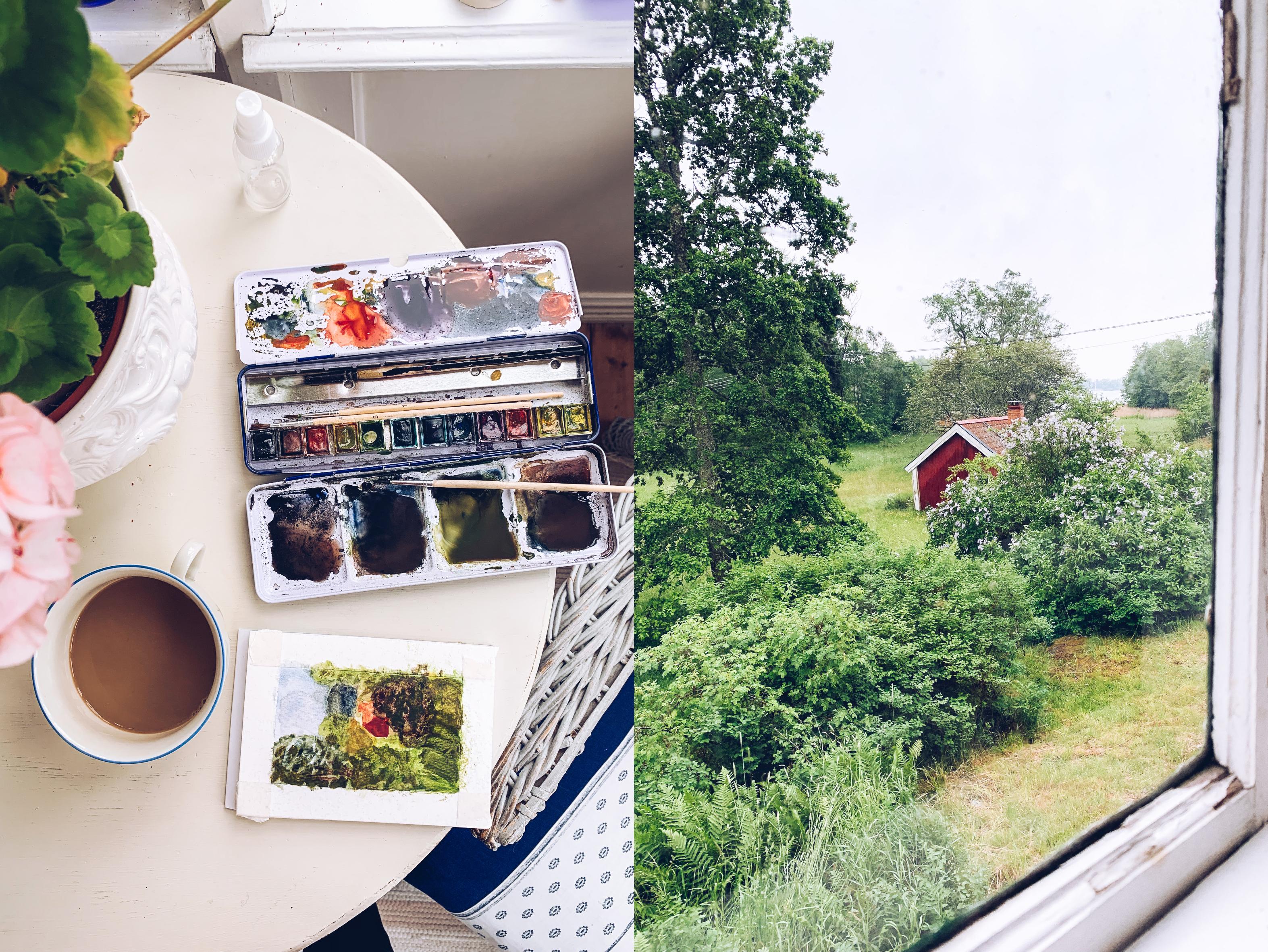 Akvarell Blidö - reaktionista.se